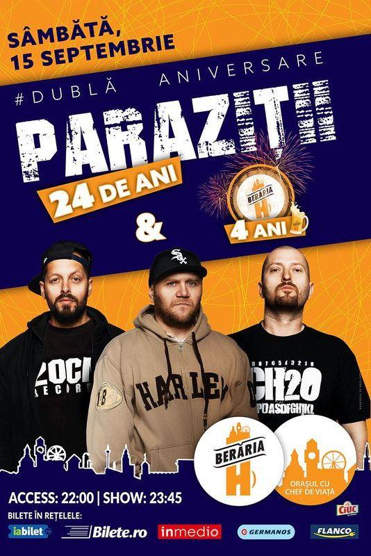 15 Noiembrie / Concert Parazitii / Cluj / Euphoria Music Hall - asspub.ro