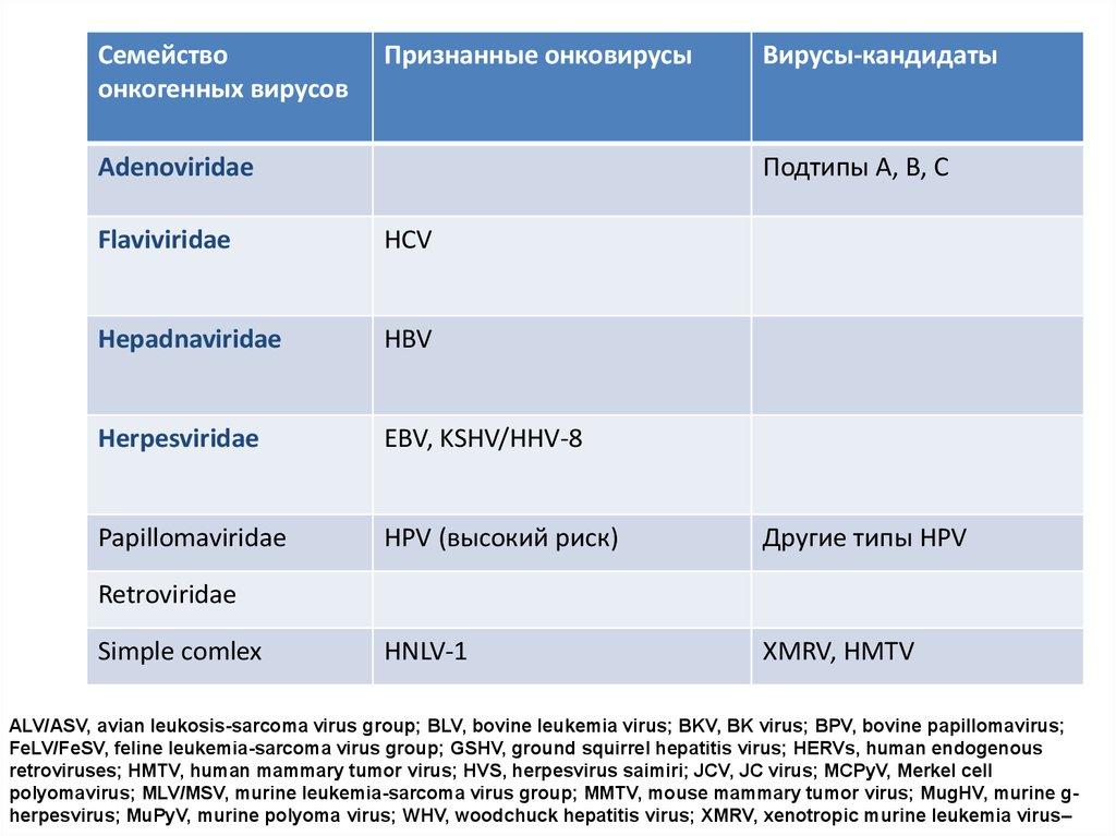 hpv virus and leukemia)
