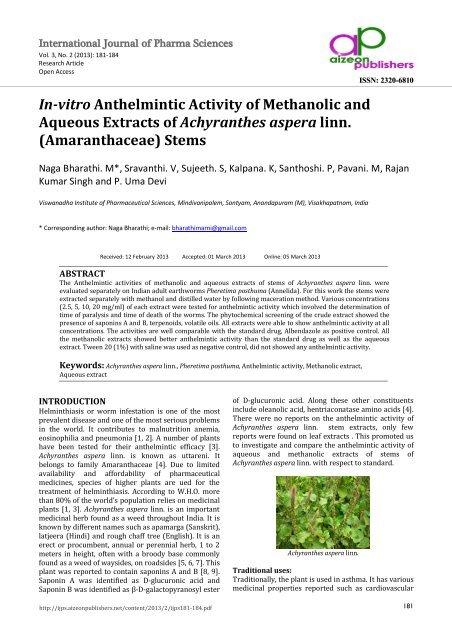 how do anthelmintic work virus del papiloma humano sintomi