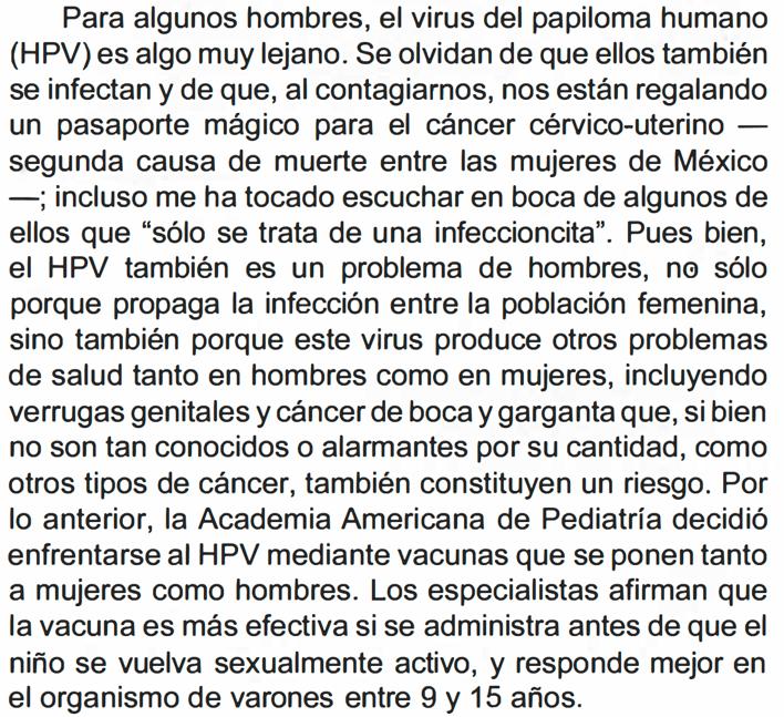 papiloma humano virus contagio