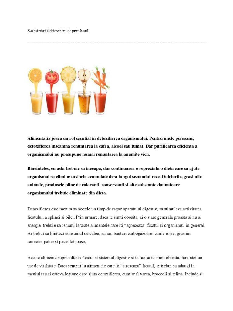 cura detoxifiere medicamente
