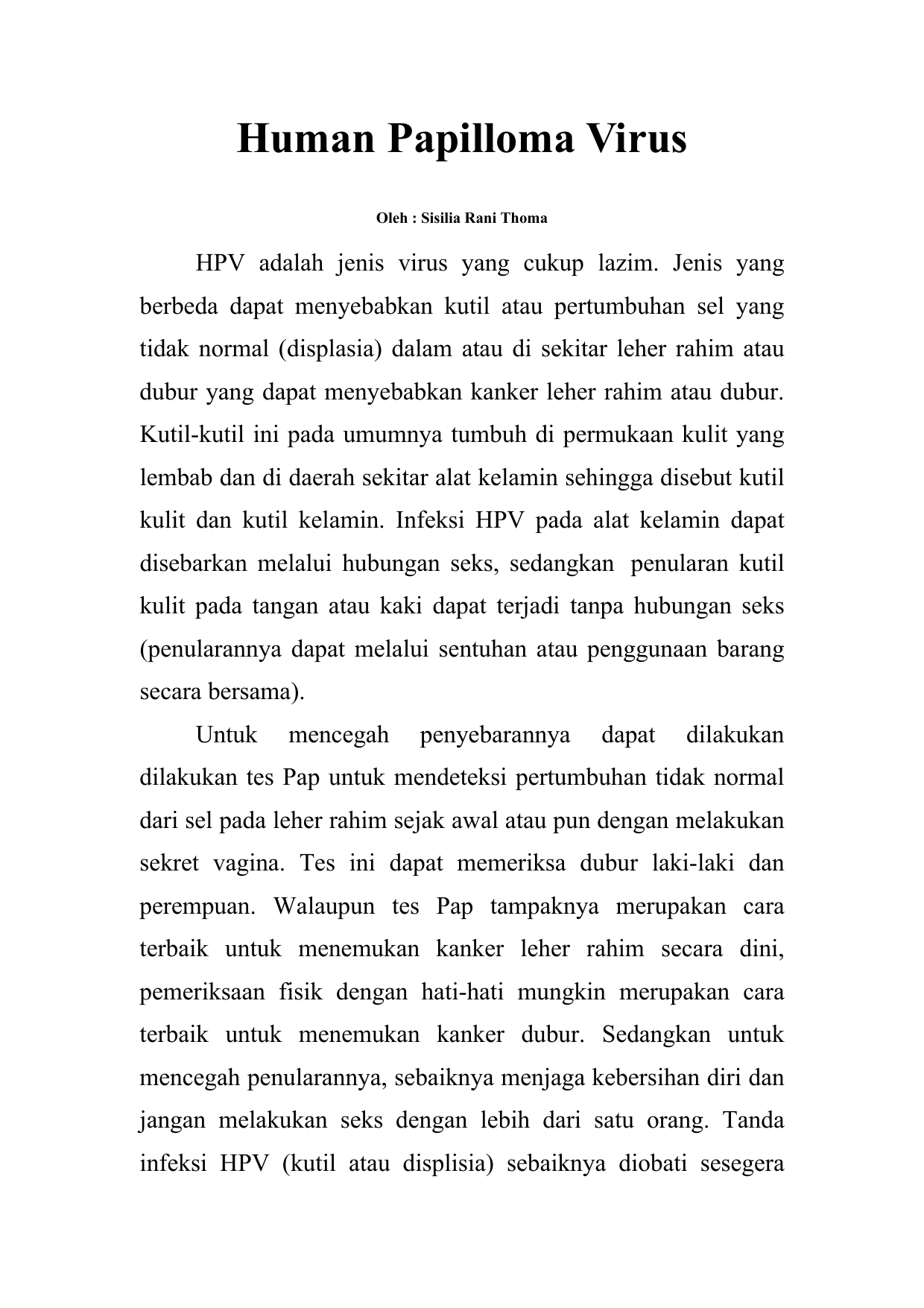 papilloma virus adalah