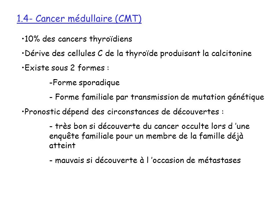 cancer thyroide familial