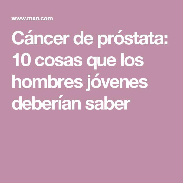 cancer de prostata juvenil)
