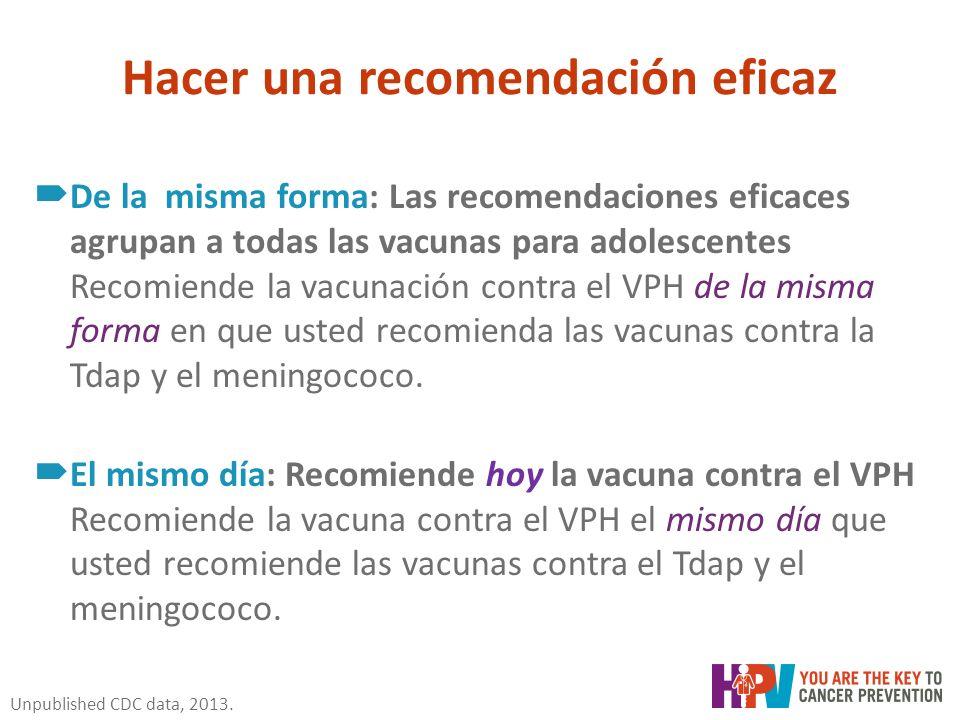 papiloma humano recomendaciones