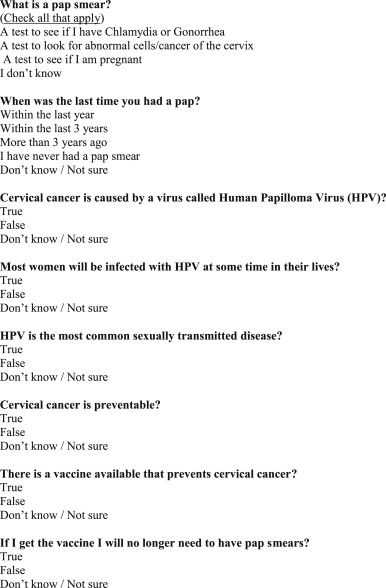 cervical cancer questions
