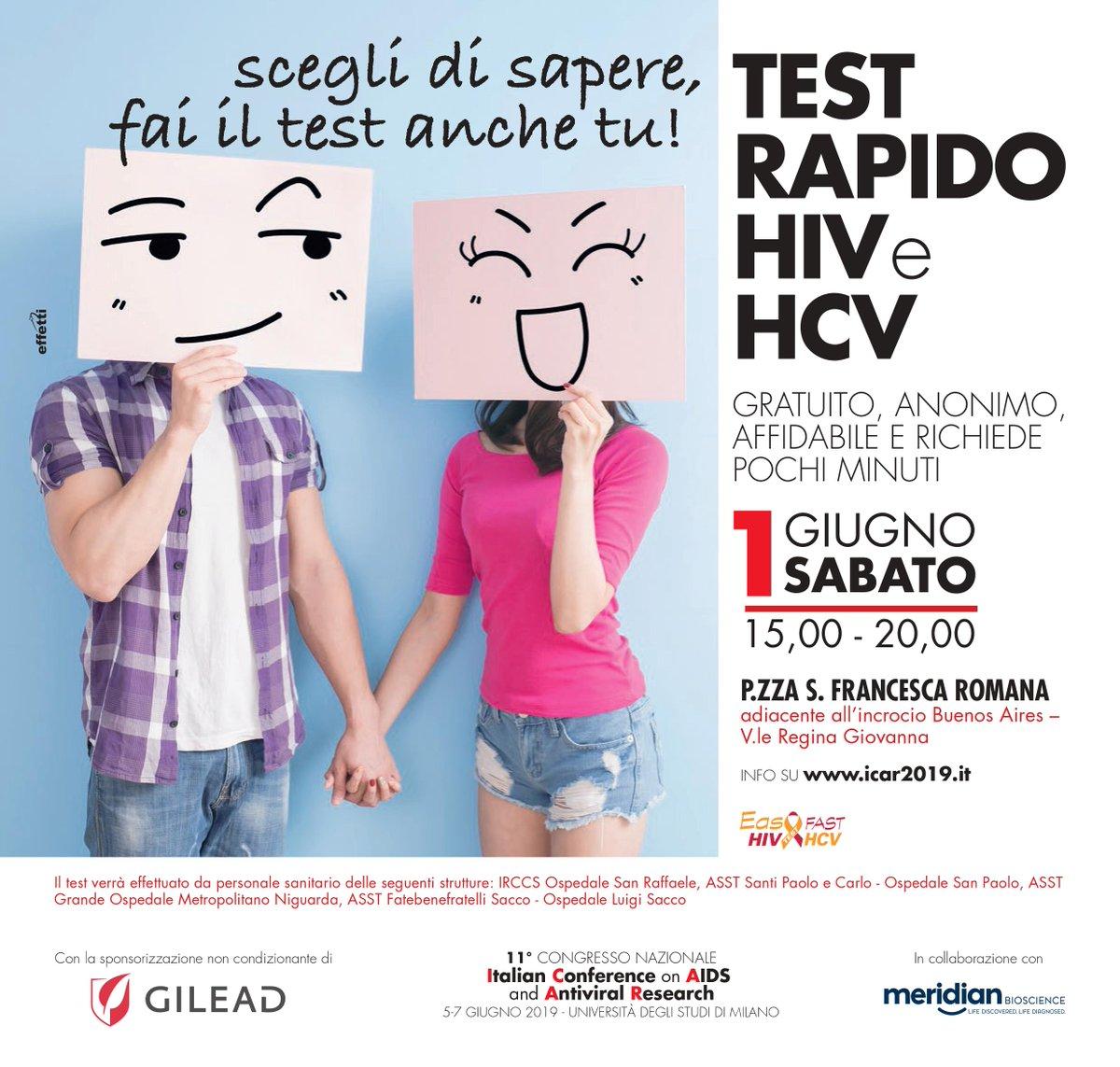 test hiv anonimo milano detoxifiere pt acnee