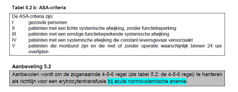 anemie 4 5 6 regel