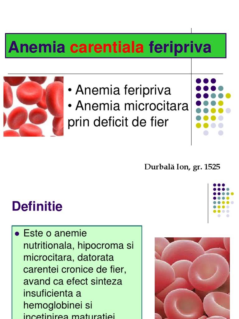 anemie carentiala)