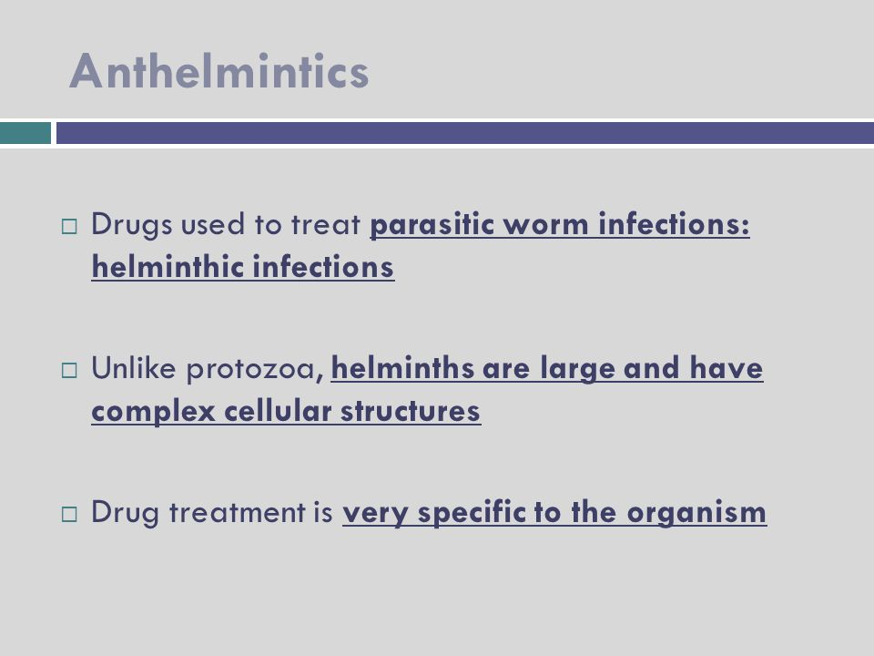 anthelmintic drugs are