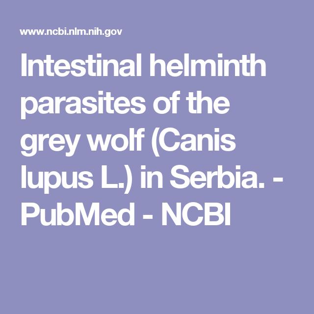 parasitic helminths ncbi)