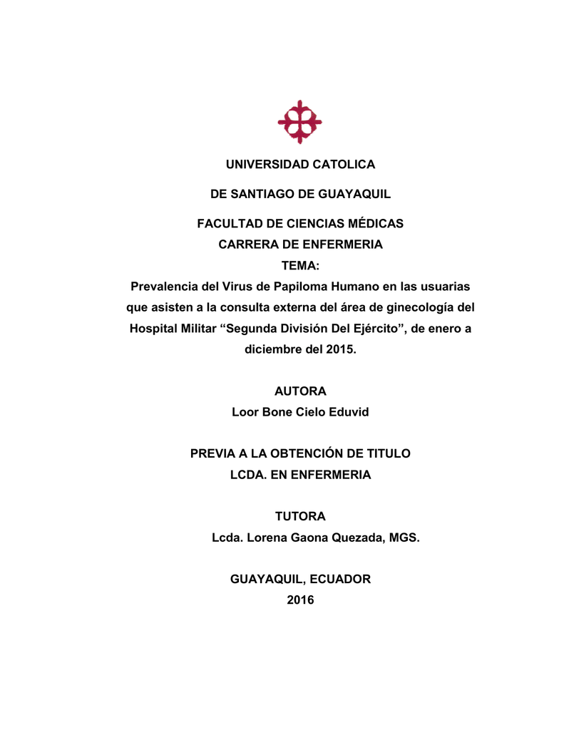 papiloma humano universidad catolica)