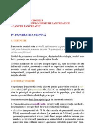 cancerul pancreatic definitie)