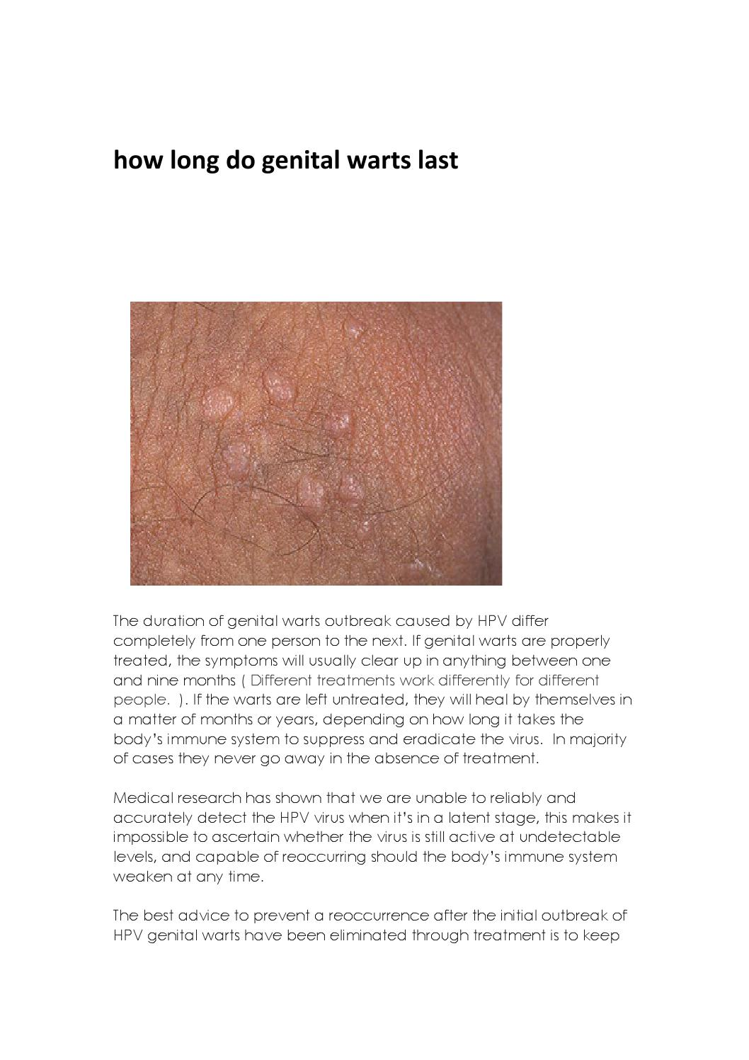 hpv warts go away on their own)
