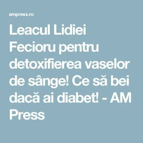 detoxifierea vaselor de sange)