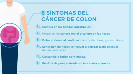 cancer de colon en sintomas