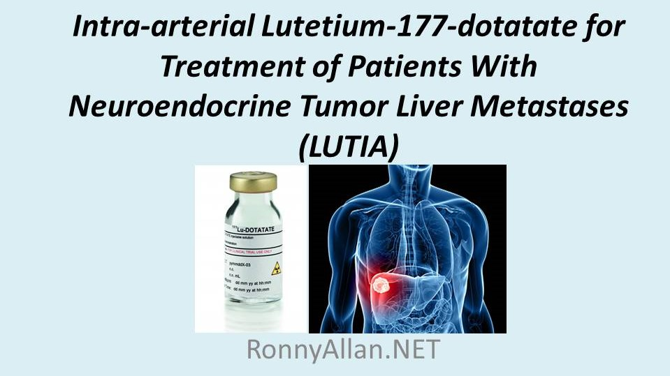 neuroendocrine cancer that has spread to the liver)