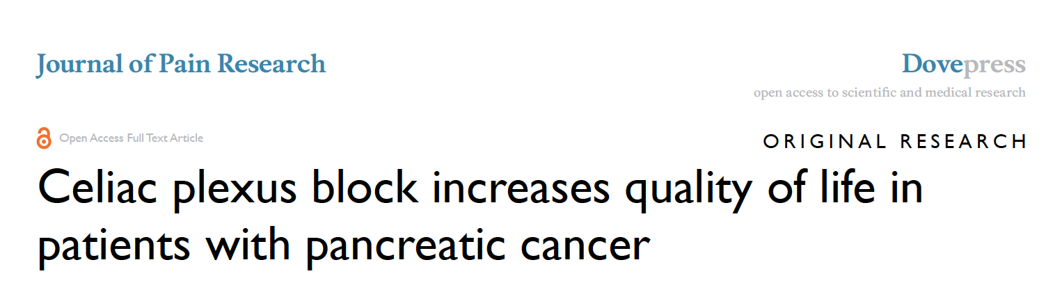 pancreatic cancer quality of life)