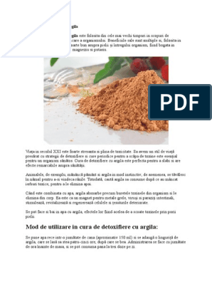 Cura cu argilă albastră pentru detoxifiere | Doxologia