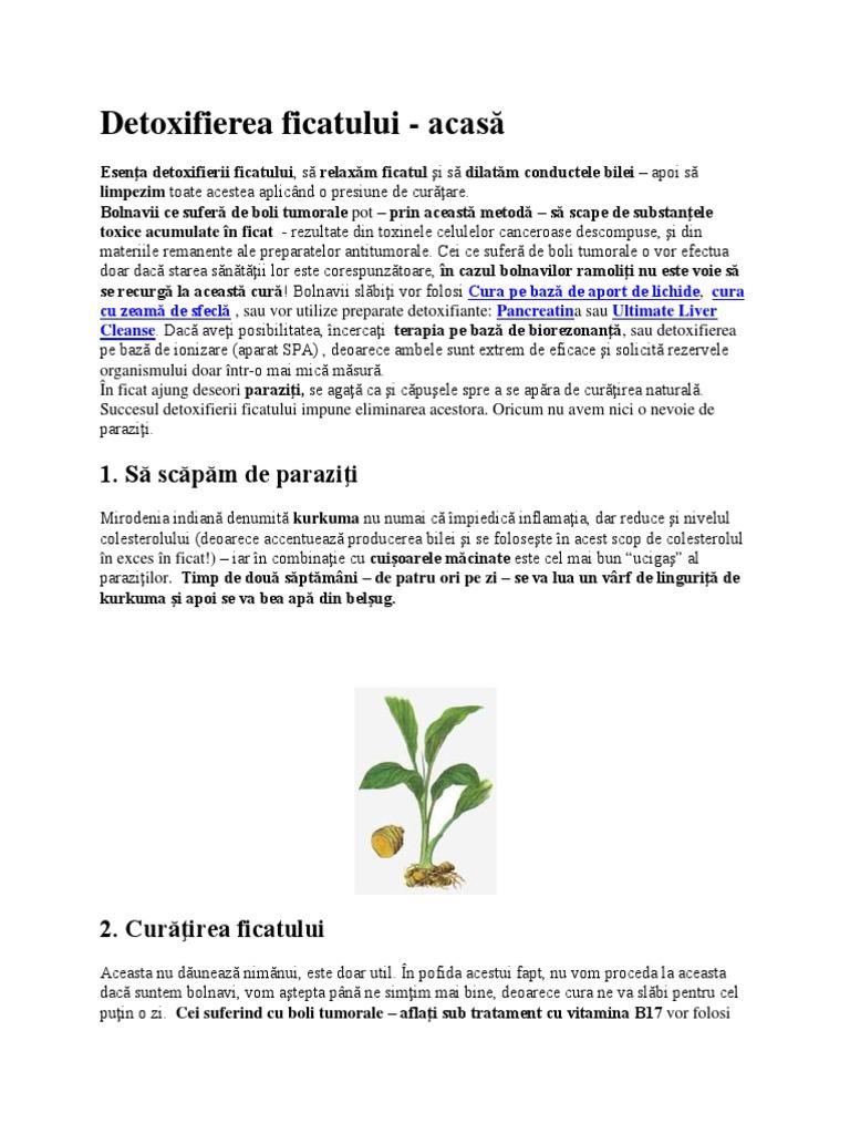detoxifiere eliminare paraziti