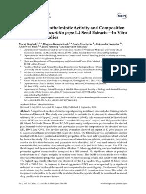 anthelmintic activity of cucurbita maxima)