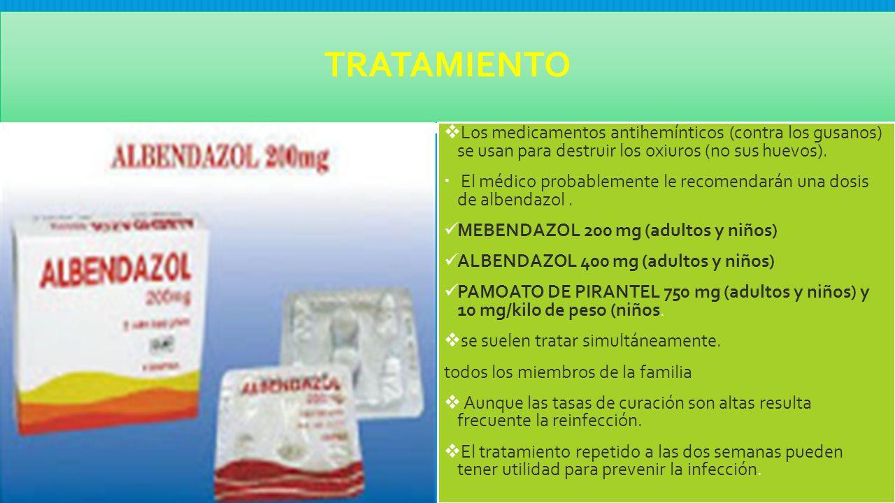 tratamientos para oxiuros)