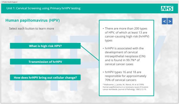 human papillomavirus test nhs)