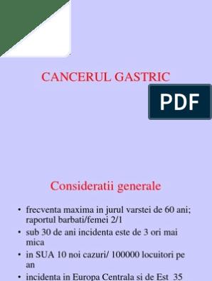 cancerul gastric este localizat in regiunea