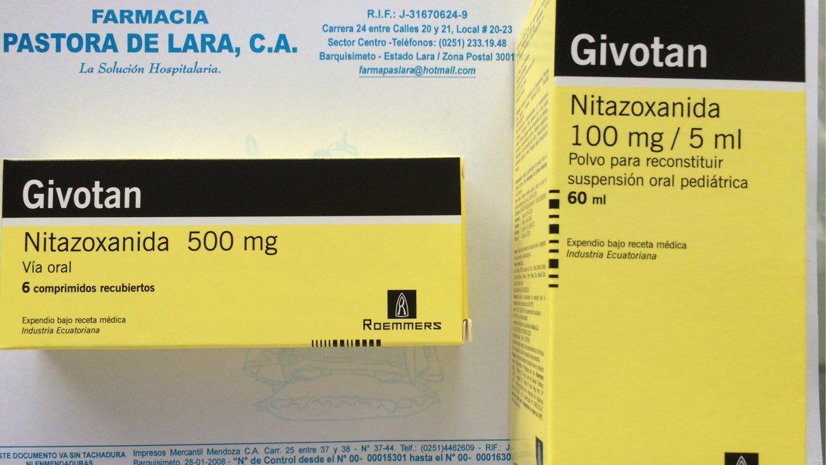 oxiuros tratamiento nitazoxanida schistosomiasis brain