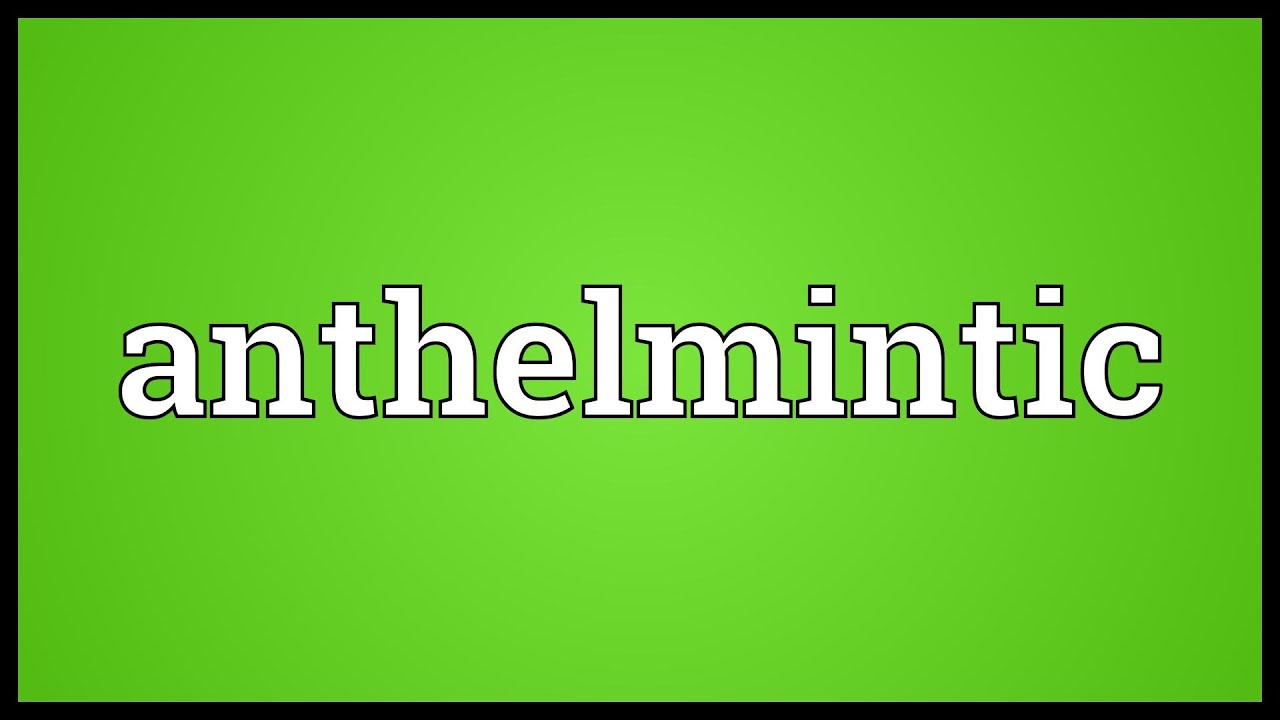 meaning of anthelmintic