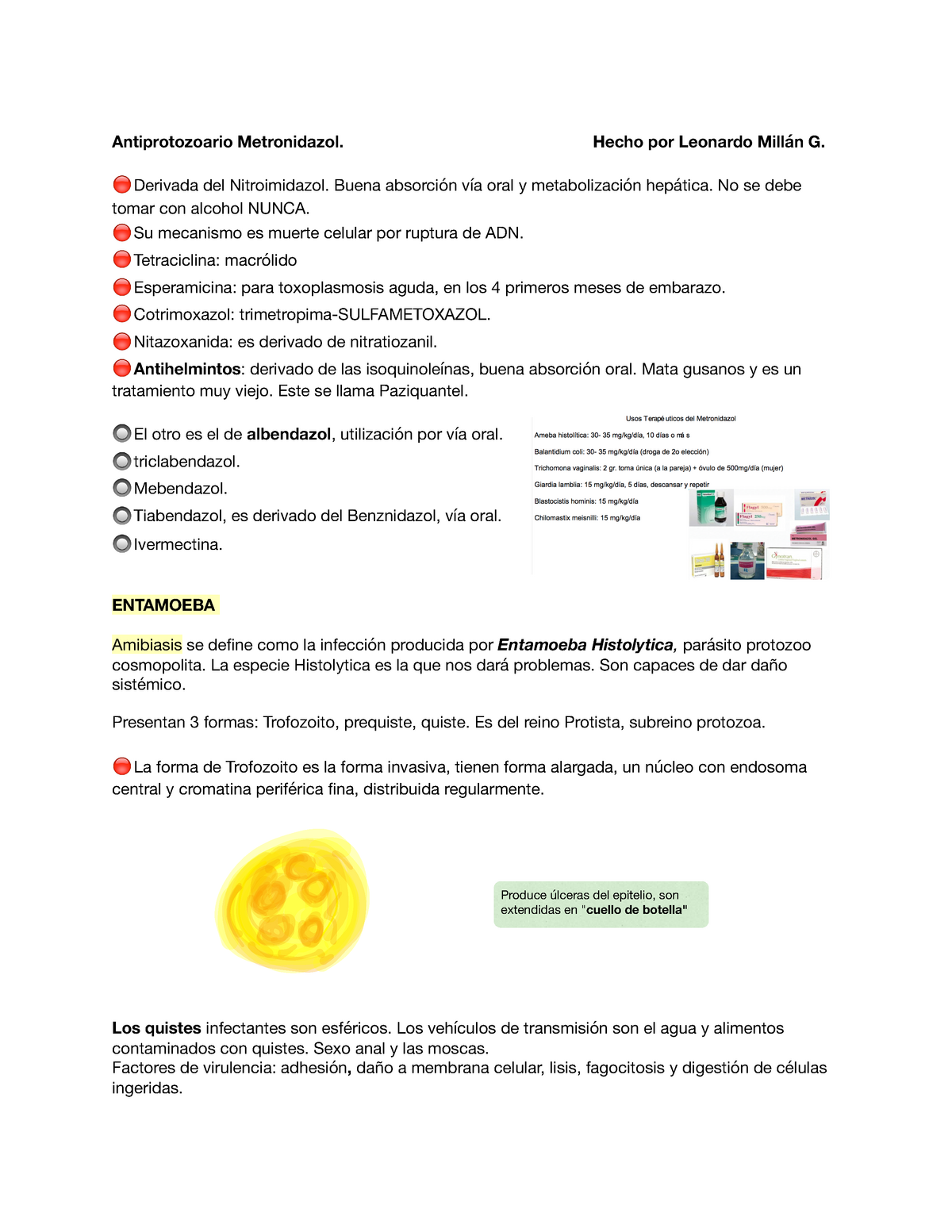 oxiuros tratamiento nitazoxanida)