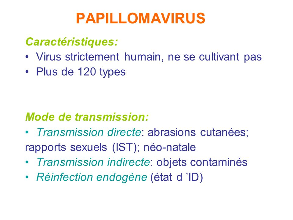 papilloma virus mode de transmission)