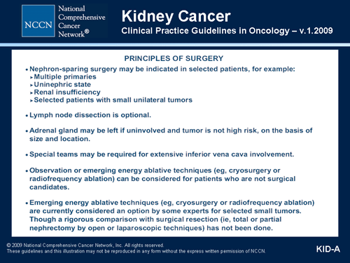 renal cancer guidelines)