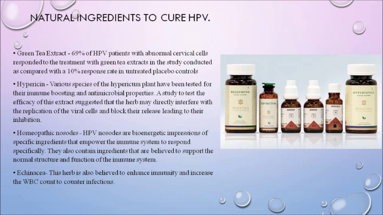 hpv treatment homeopathic