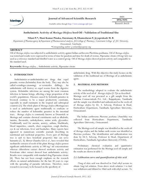 anthelmintic activity of flavonoids