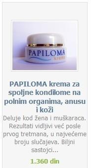 papiloma krema utisci)