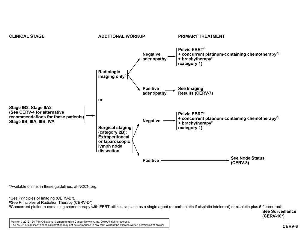 cervical cancer brachytherapy guidelines)