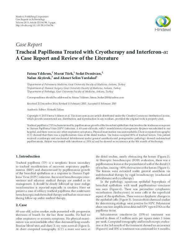 respiratory papillomatosis differential diagnosis