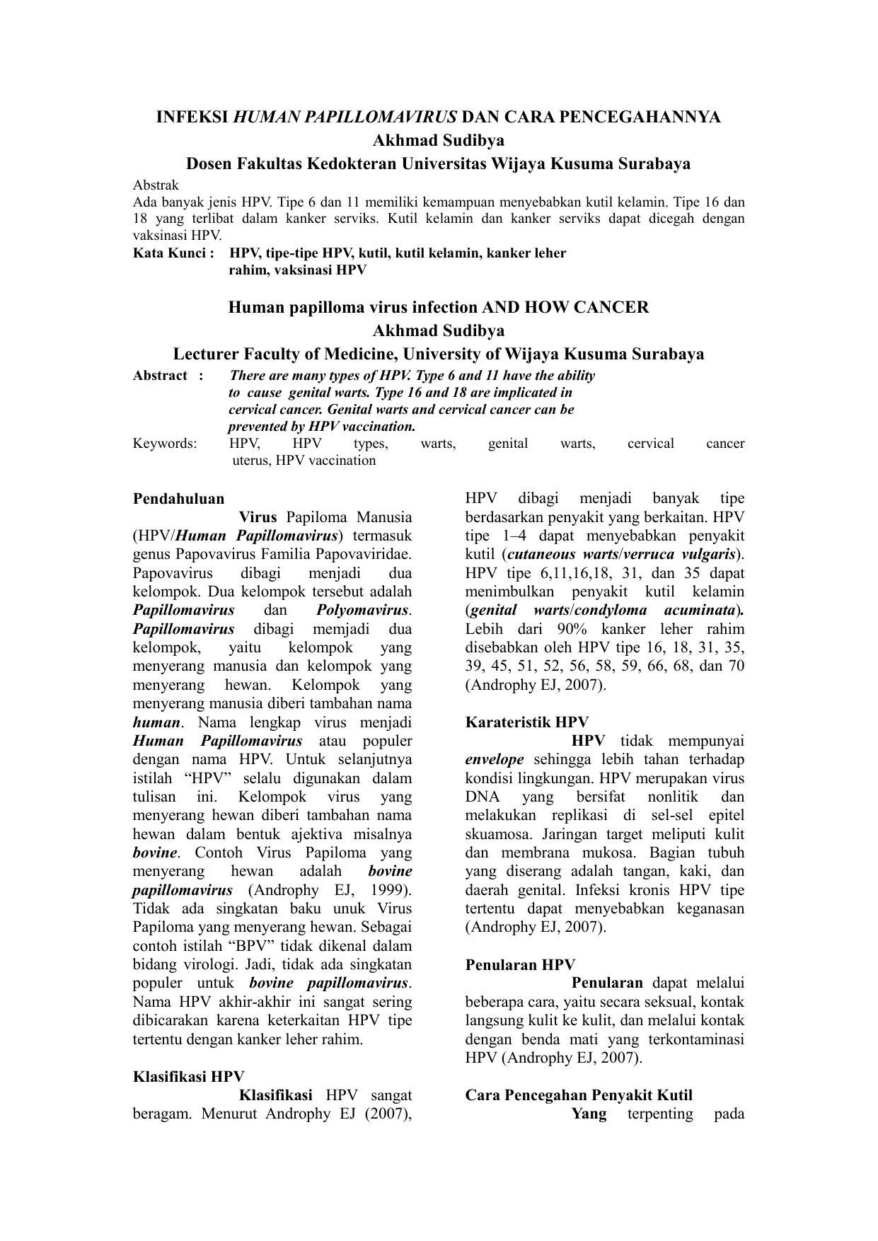 humani papiloma virus tip 16)