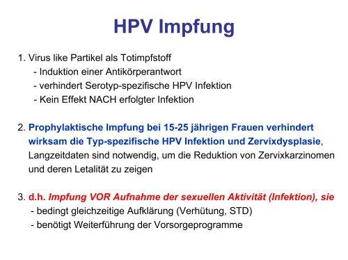 hpv impfung nach infektion)