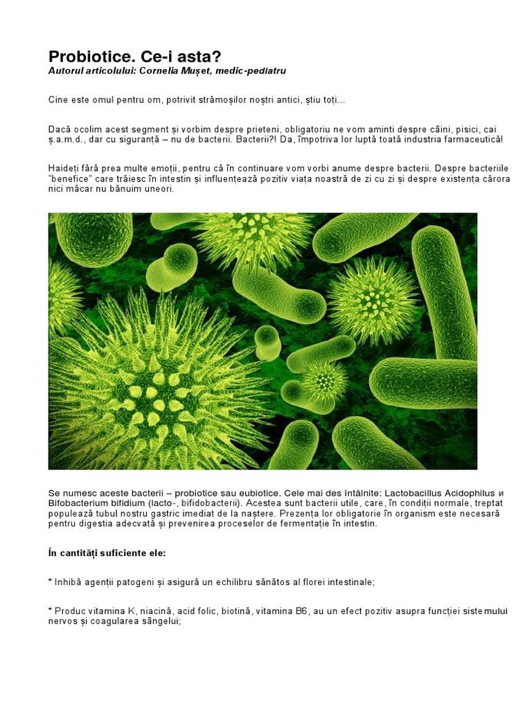 bacterii benefice omului)