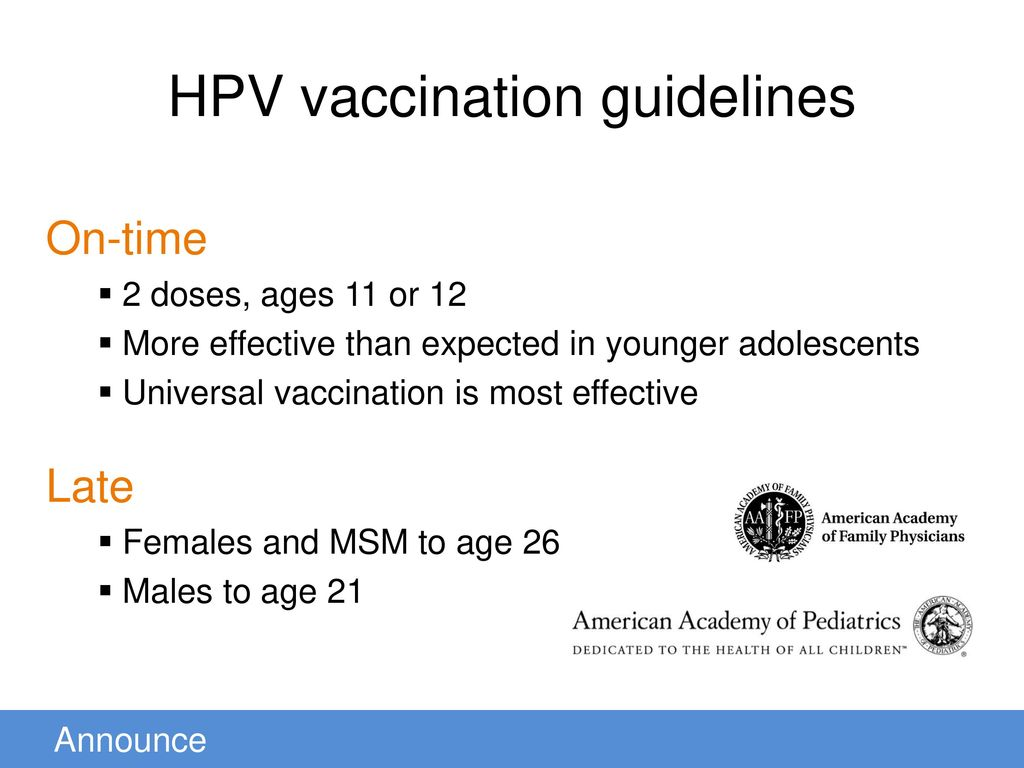 hpv vaccine guidelines