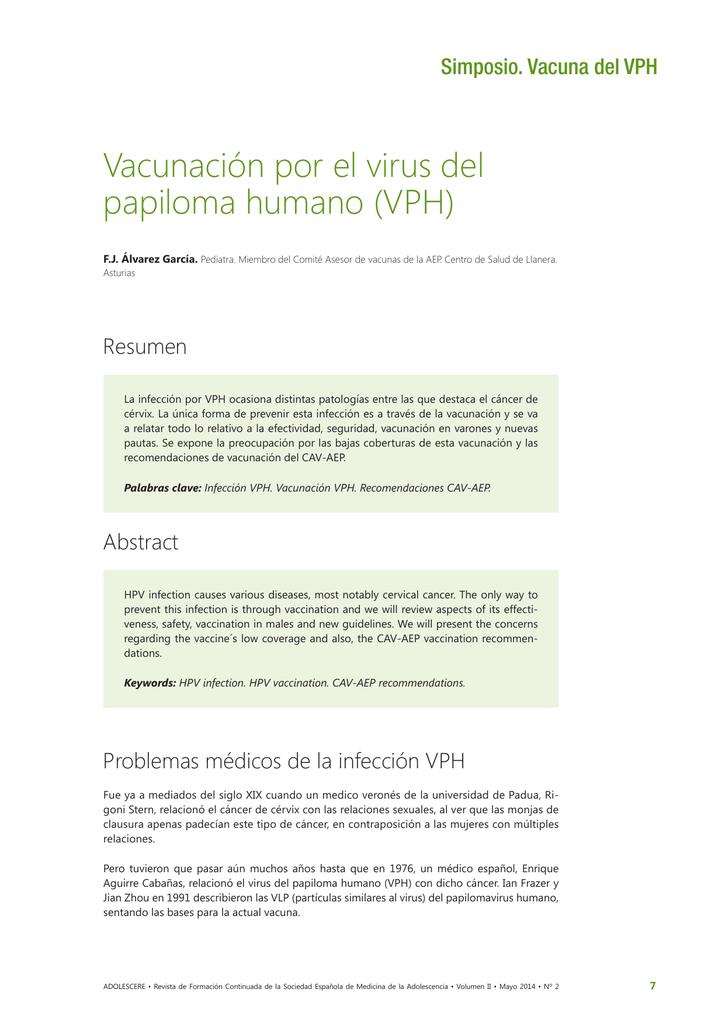 virus del papiloma recomendaciones