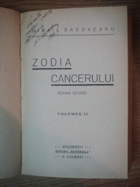 zodia cancerului roman istoric