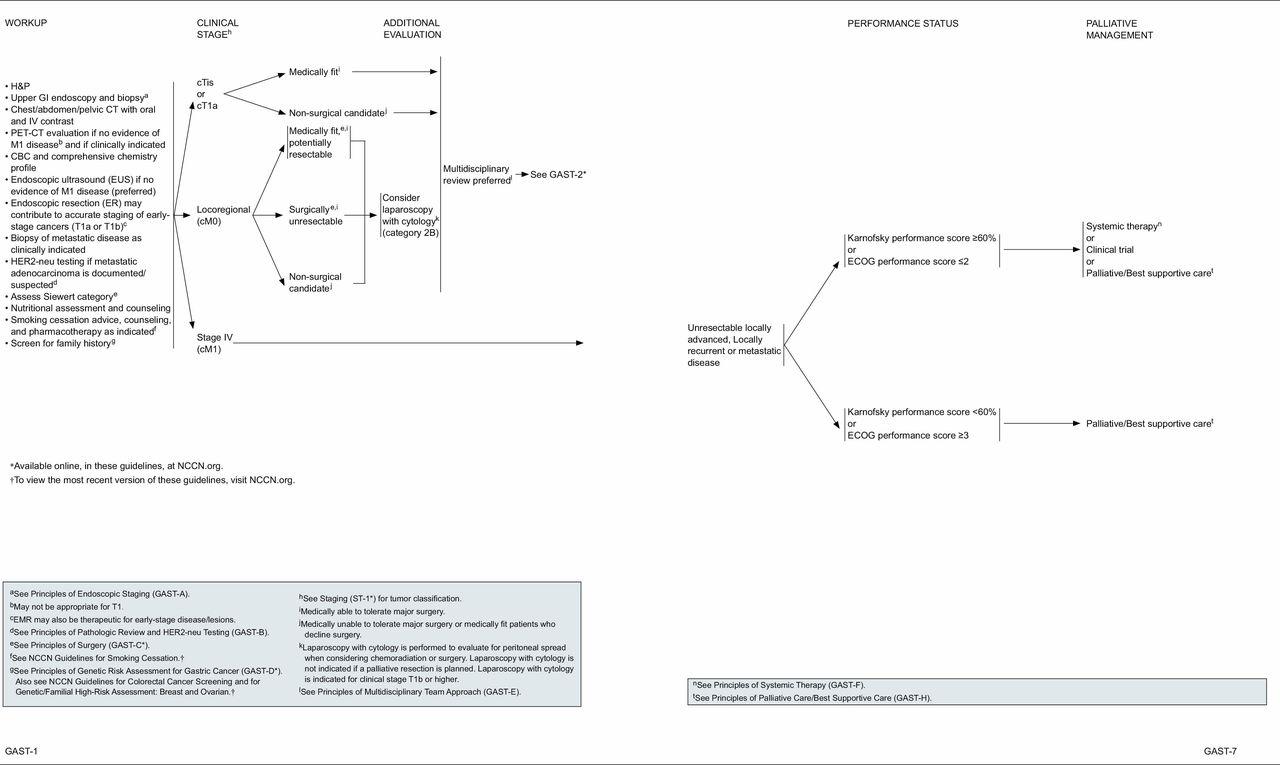 gastric cancer treatment algorithm)