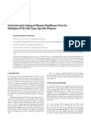 human papillomavirus detection and typing using a nested-pcr-rflp assay