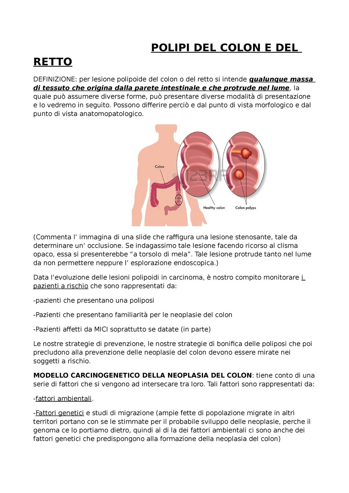 cancer intestinul gros polipi)