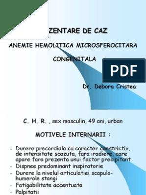 anemie hemolitica ereditara