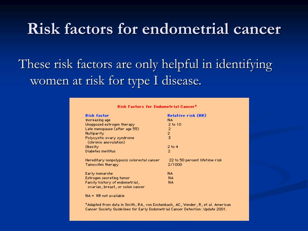 endometrial cancer on tamoxifen)