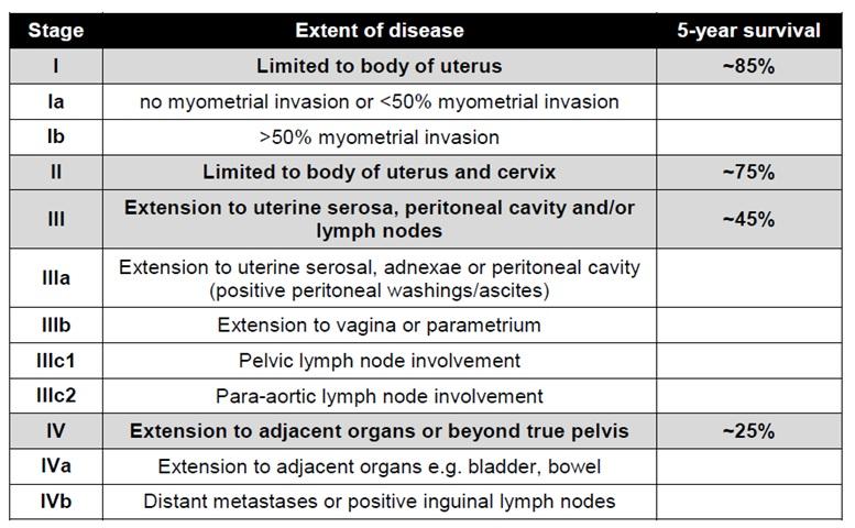 cancer endometrial prognosis parazitii categoria grea